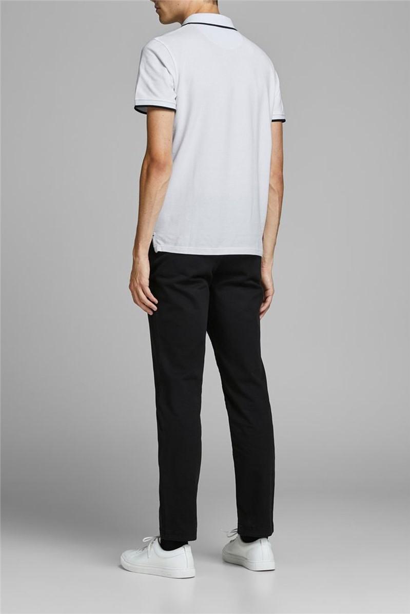 JACK & JONES White Logo Polo Shirt