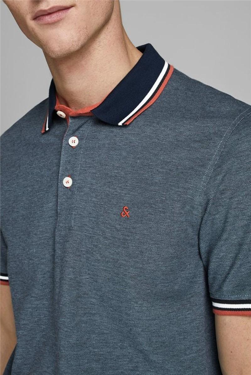 JACK & JONES Blue Logo Polo Shirt