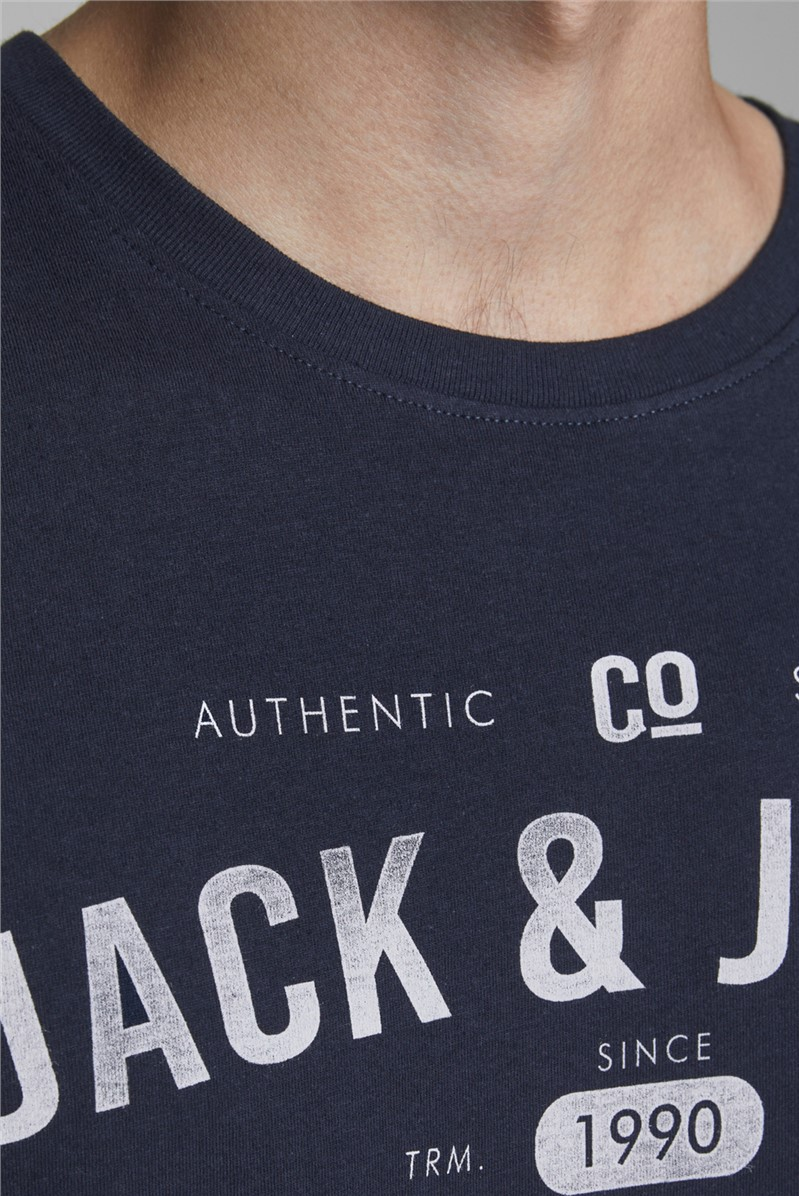 JACK & JONES Navy Graphic T-Shirt