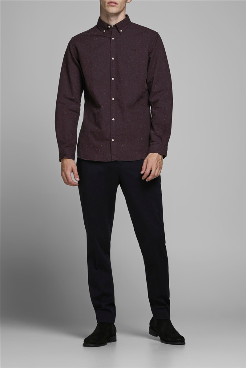 JACK & JONES Wine Button Down Shirt