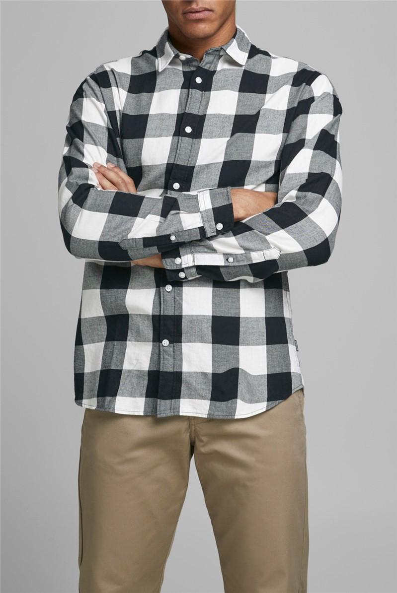 JACK & JONES  Black and White Checked Shirt