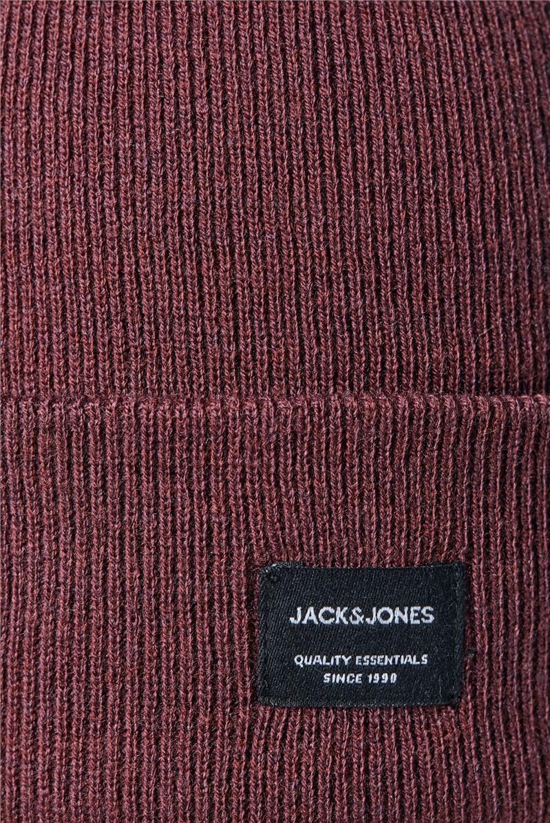 JACK & JONES Burgundy Beanie Hat
