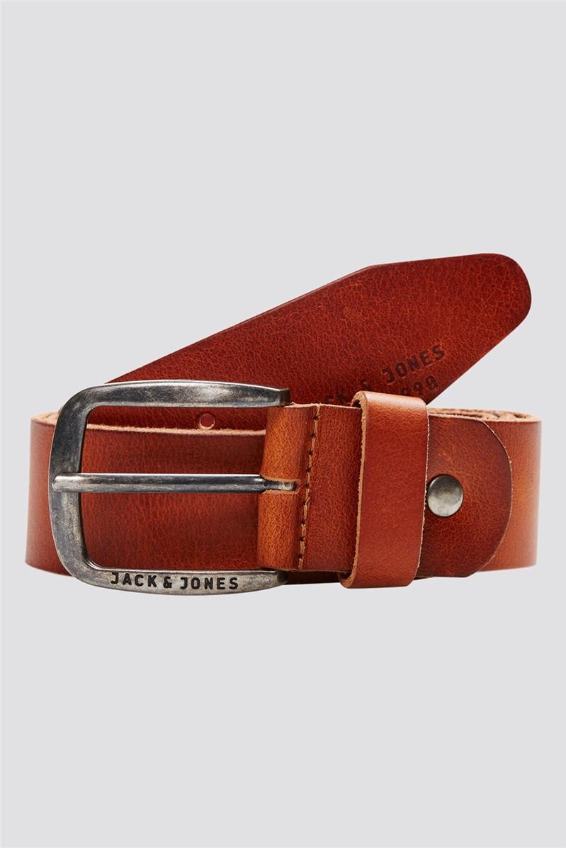 JACK & JONES Tan Leather Belt