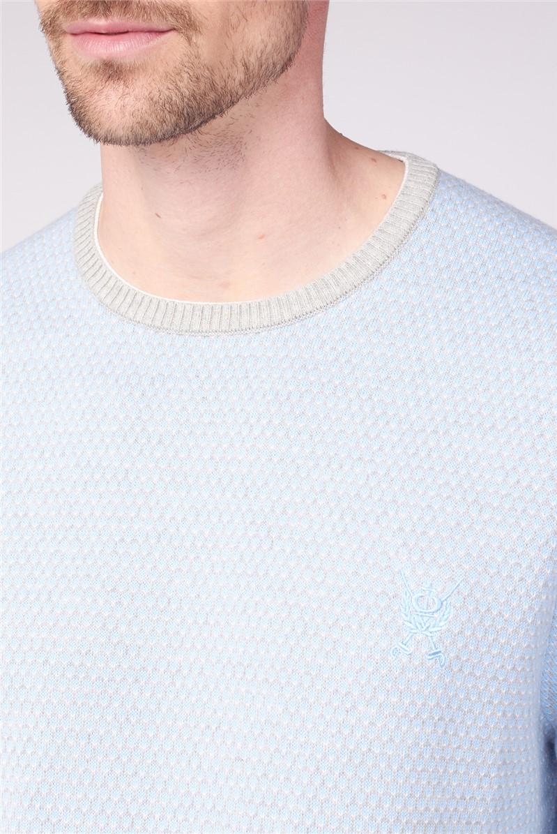 Pindot Crew Neck Knit