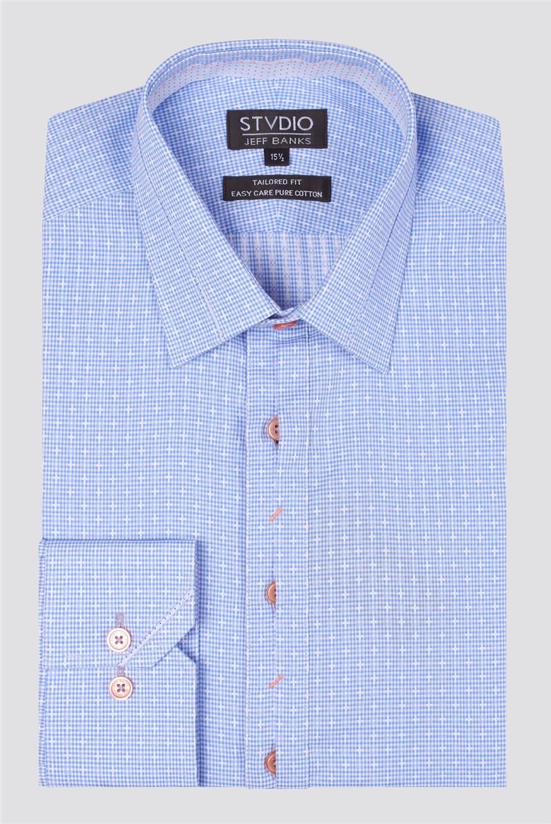 Stvdio Check Dobby Formal Shirt