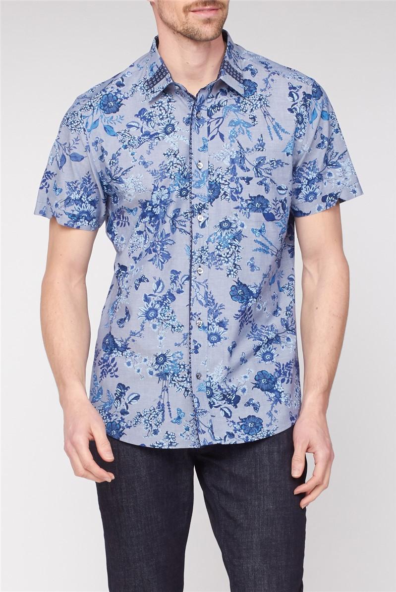 Short Sleeve Floral Print Shirt