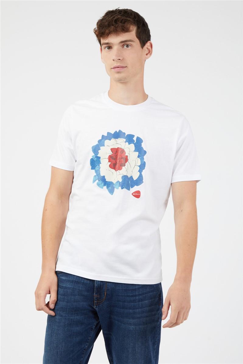 White Plectrum Target Graphic Tee
