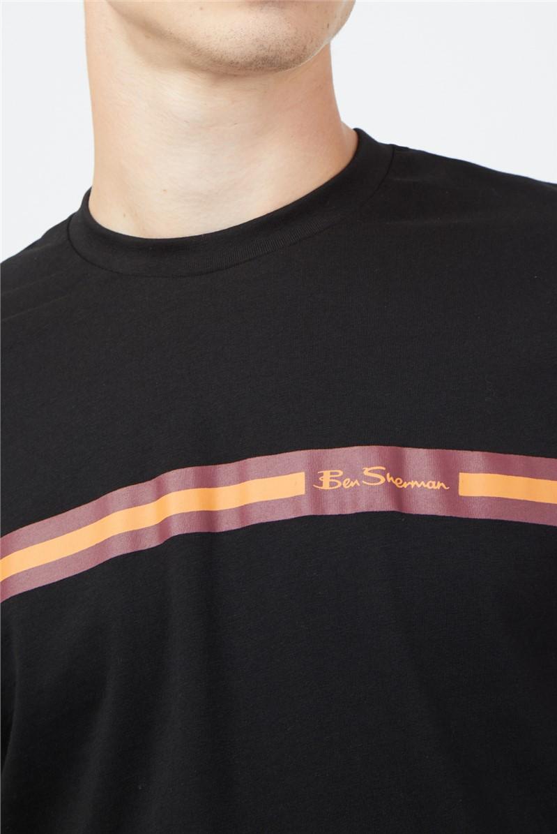 Black Chest Stripe T-Shirt