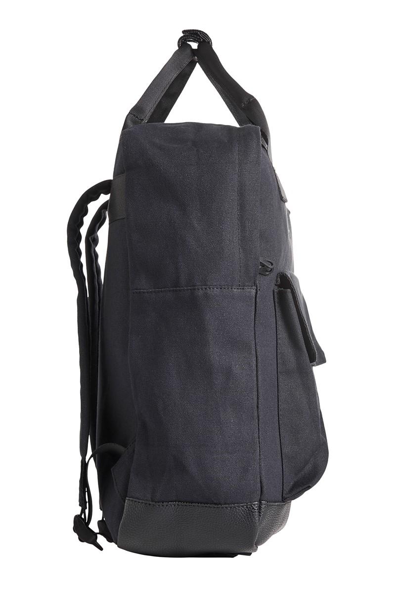 JACK & JONES Black Square Contrast Backpack
