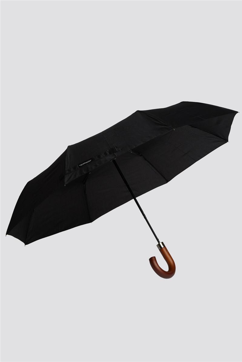 Wooden Handle Short Umbrella