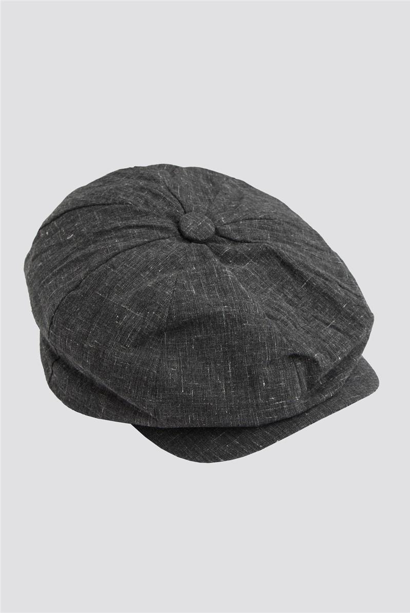 Grey Speckle Baker Boy Hat