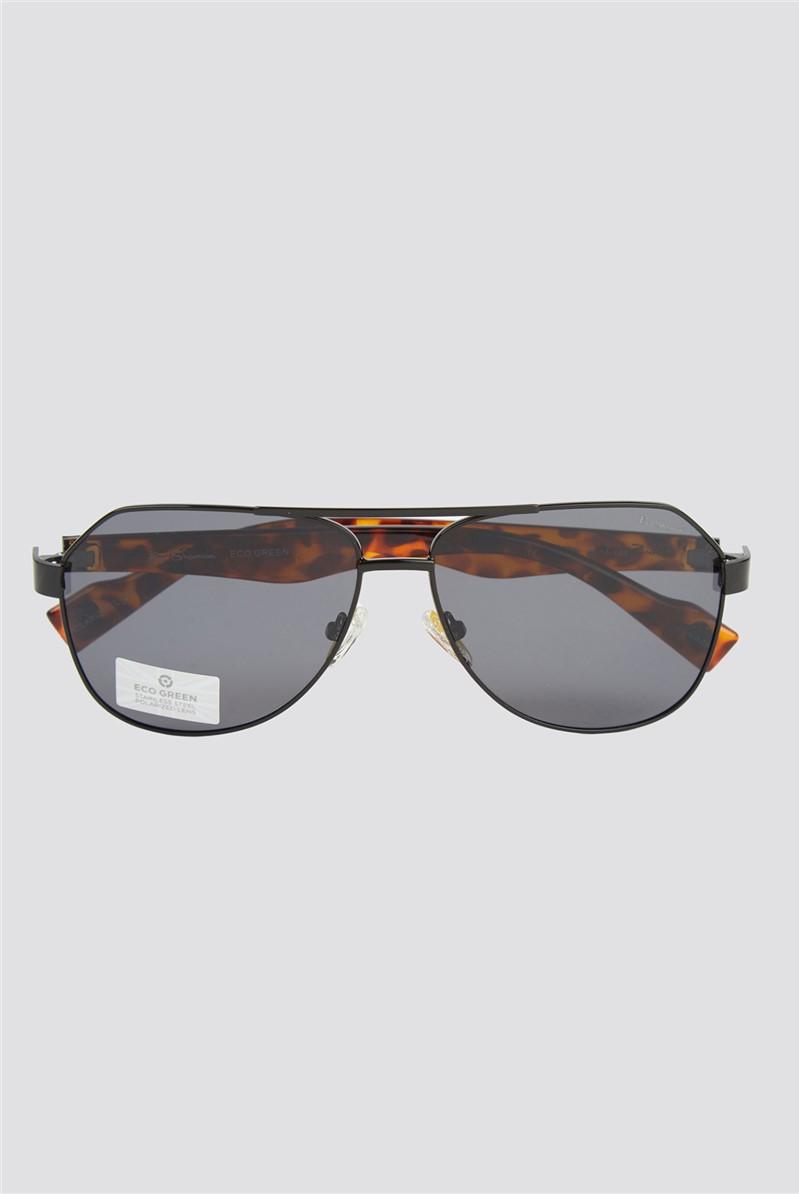 Script Modern Aviator Sunglasses