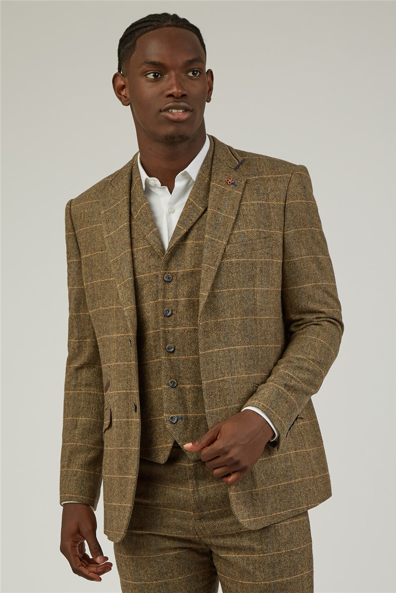 Brown Heritage Checked Trousers