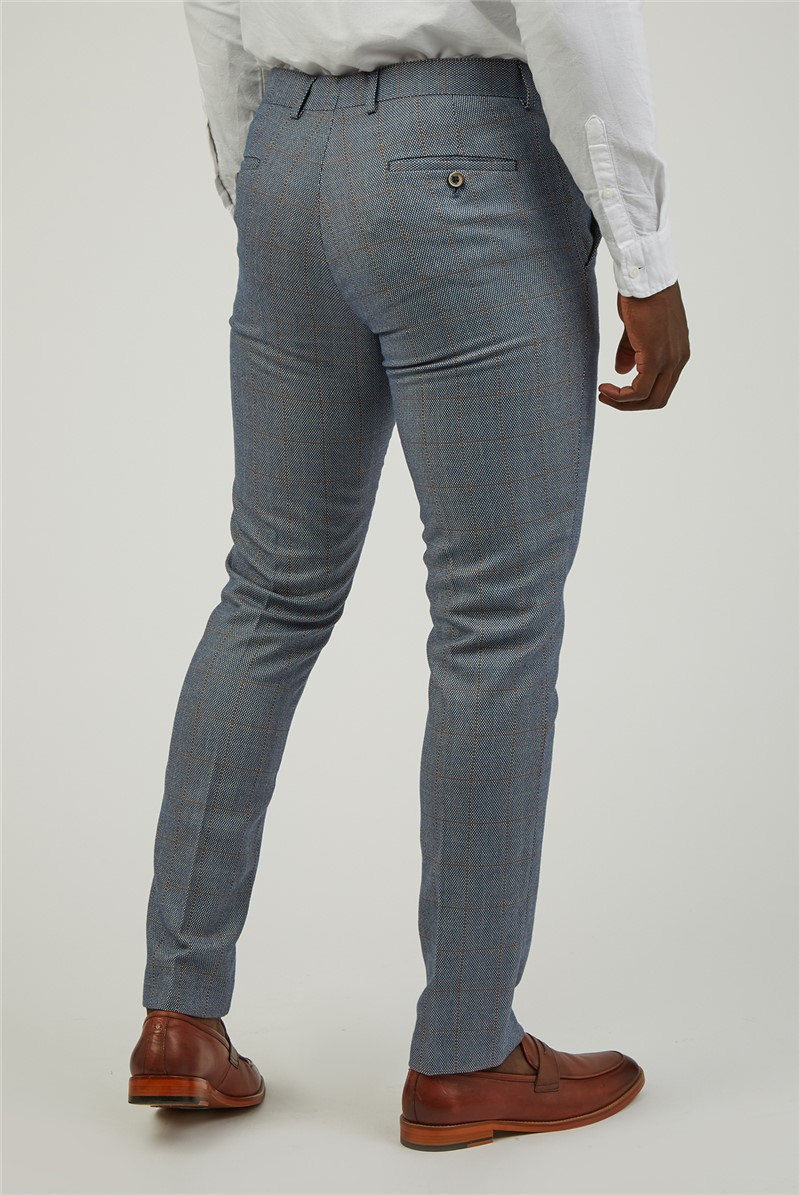 Airforce Checked Suit Trousers