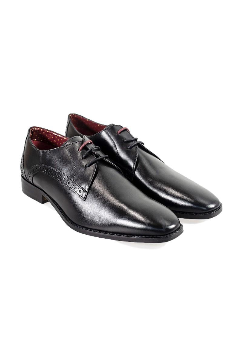 Black John Leather Shoes