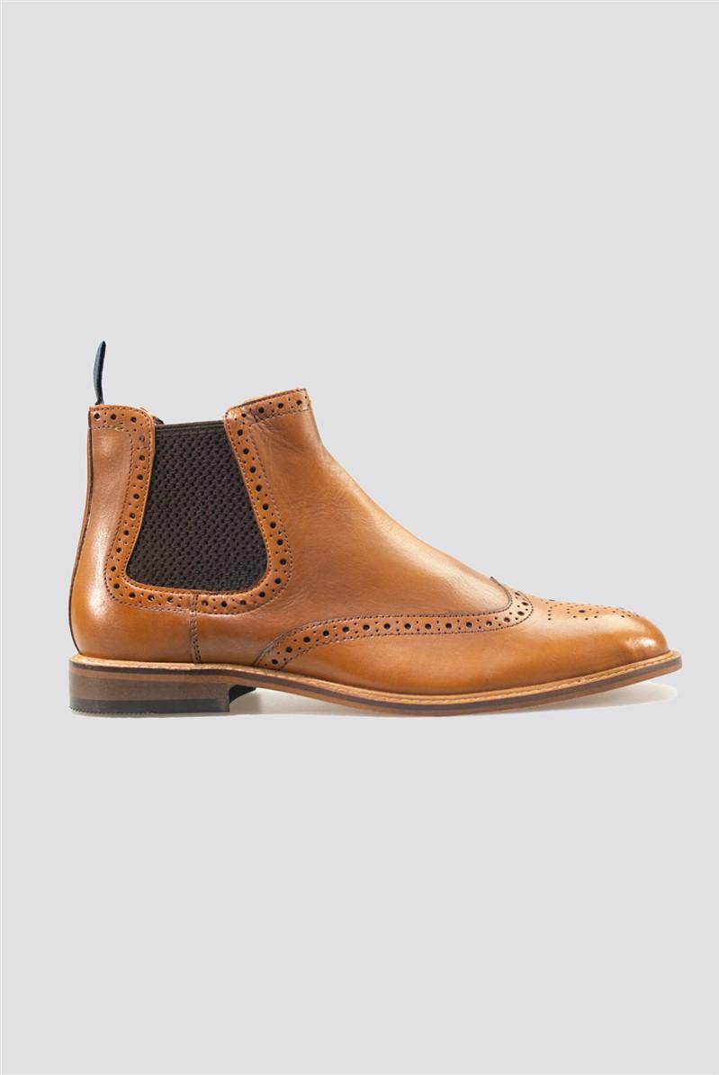 Tan Porter Brogue Boots