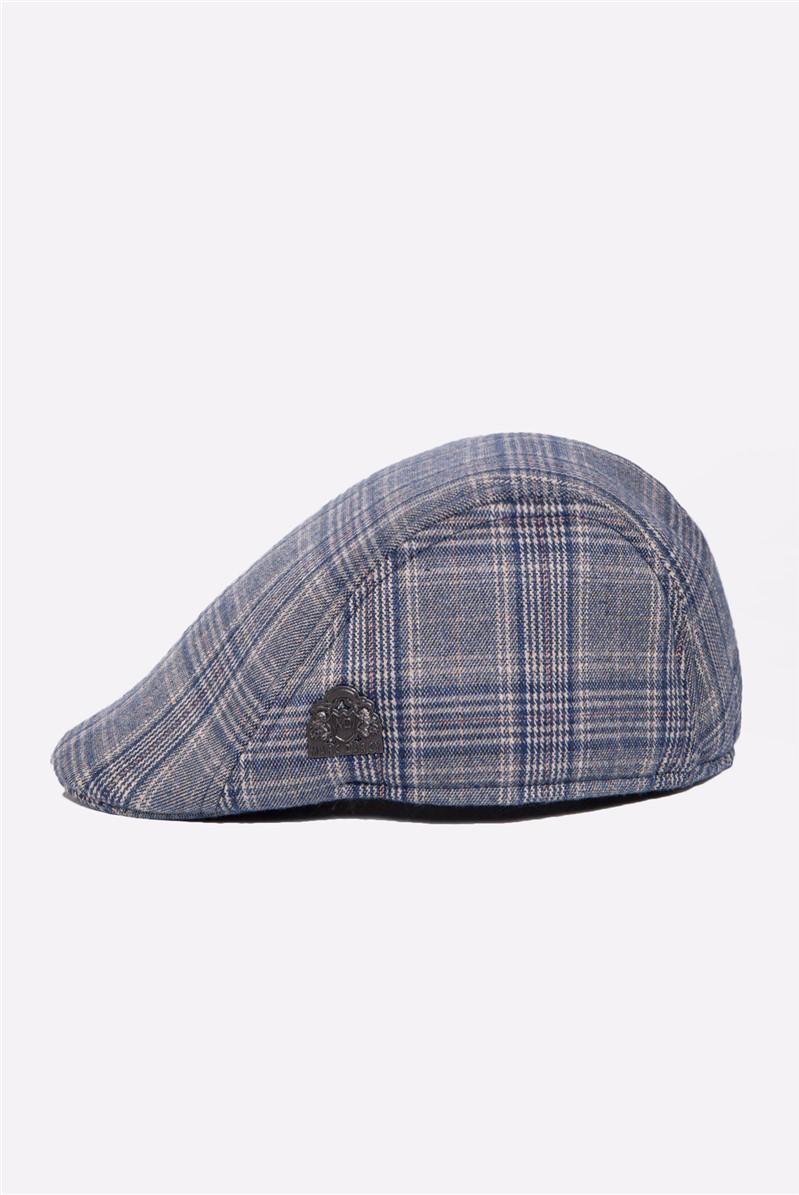 Enzo Blue Stone Flat Cap