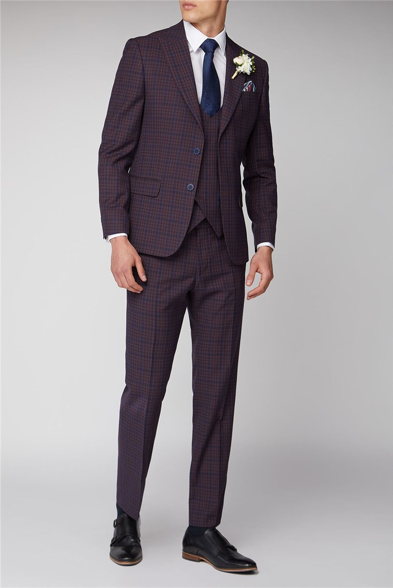 Pink and Blue Check Suit