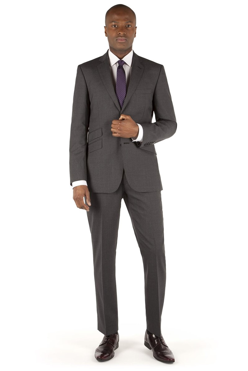 Charcoal Stripe Tailored Fit Suit
