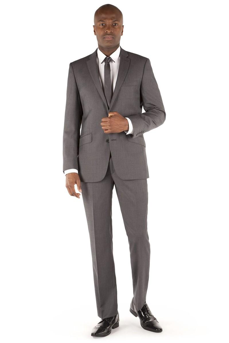 Grey Pindot Kings Fit Suit Jacket