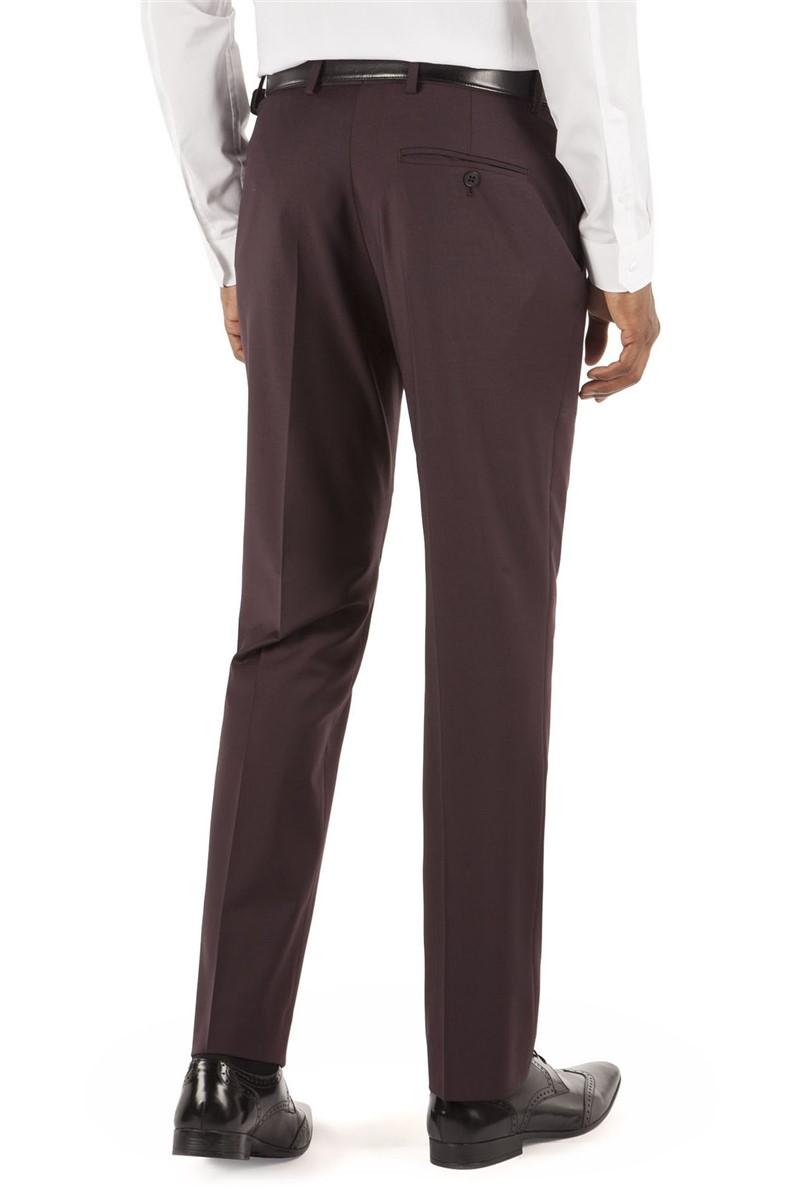 Burgundy Kings Fit Suit Trouser