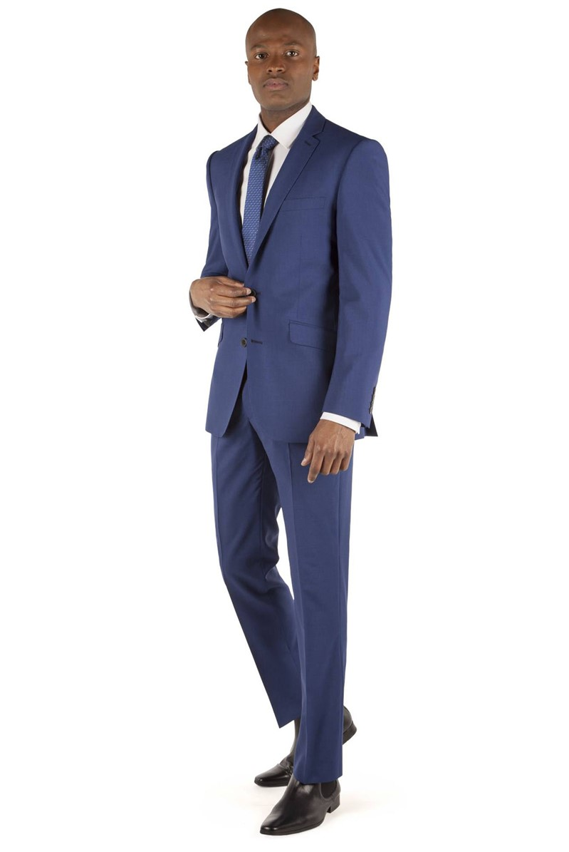 Bright Blue Cross Panama Tailored Fit Suit