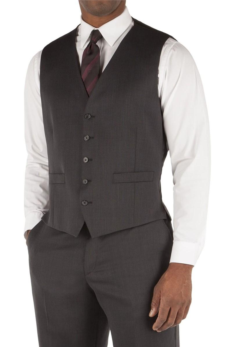 Dark Grey Birdseye Waistcoat
