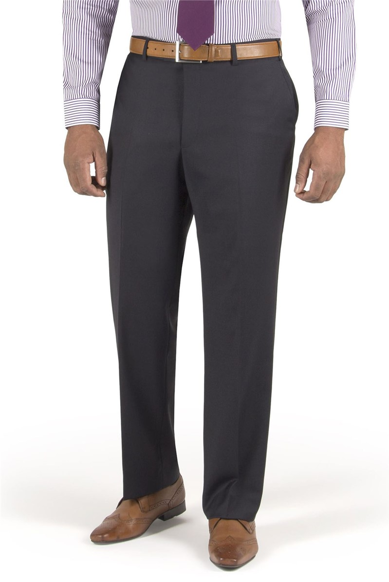 Navy Twill Suit Trouser