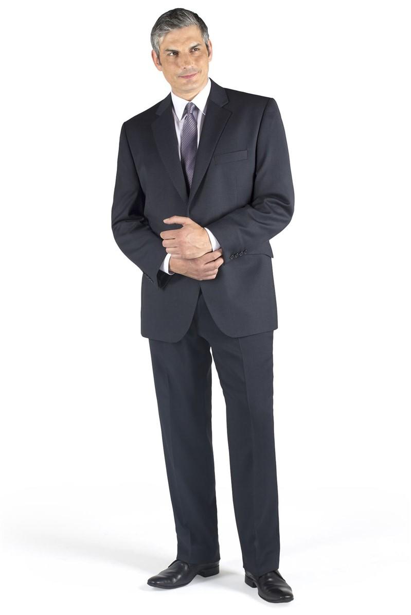 Blue Birdseye Regular Fit Suit Jacket