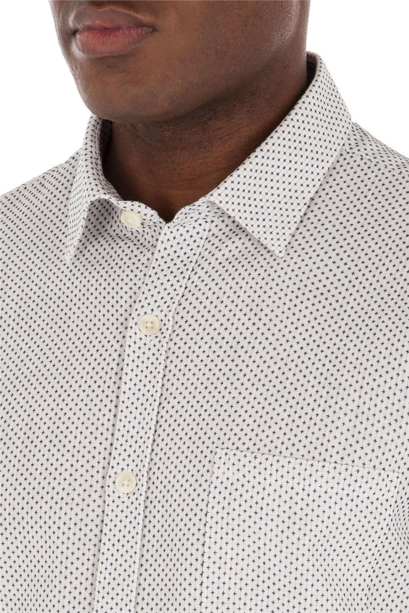 White Navy Cross Shirt