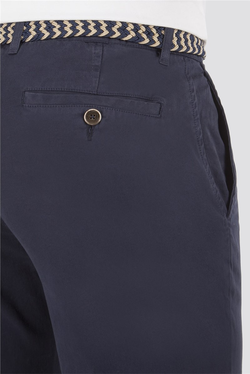 Navy Cotton Chinos