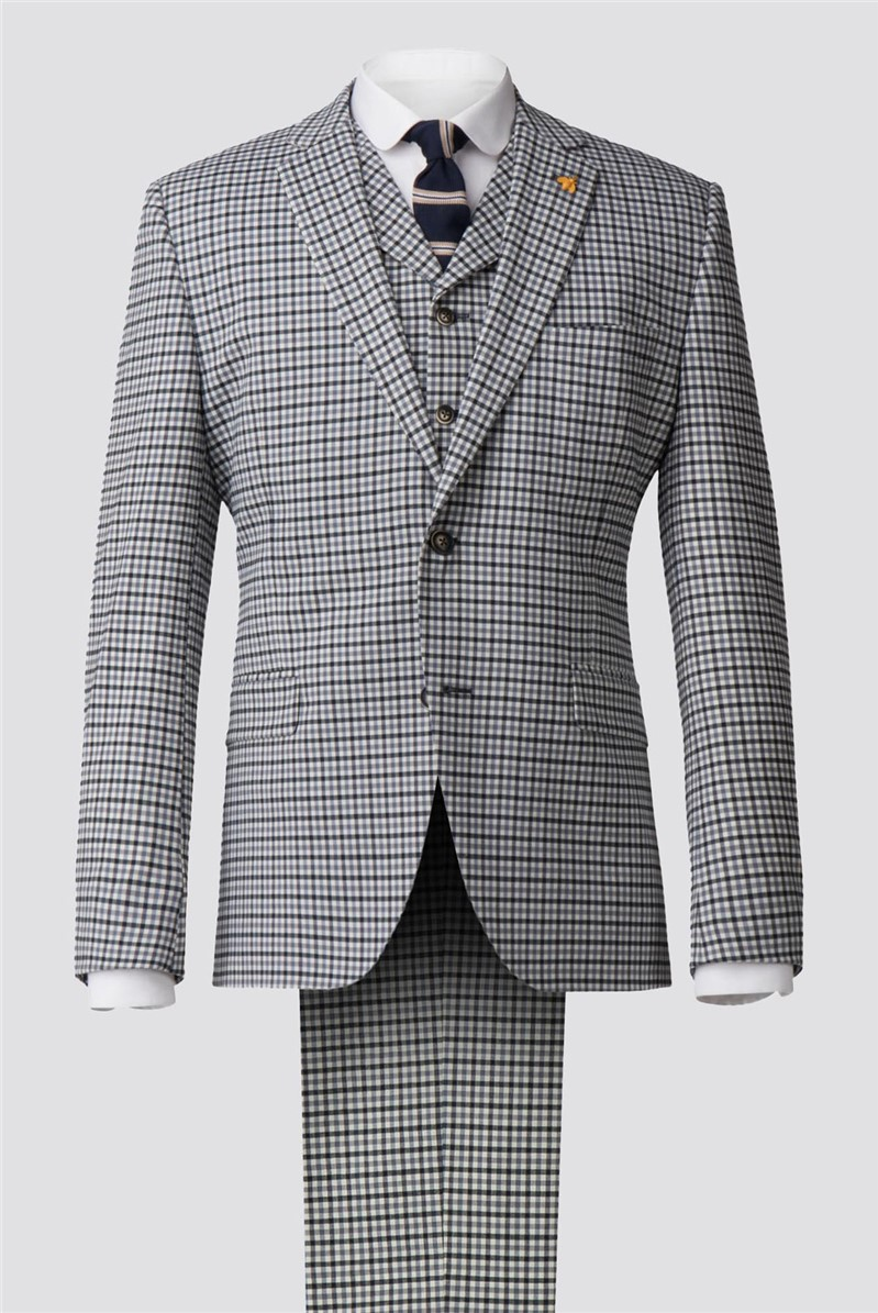 Grey Gingham Check Suit