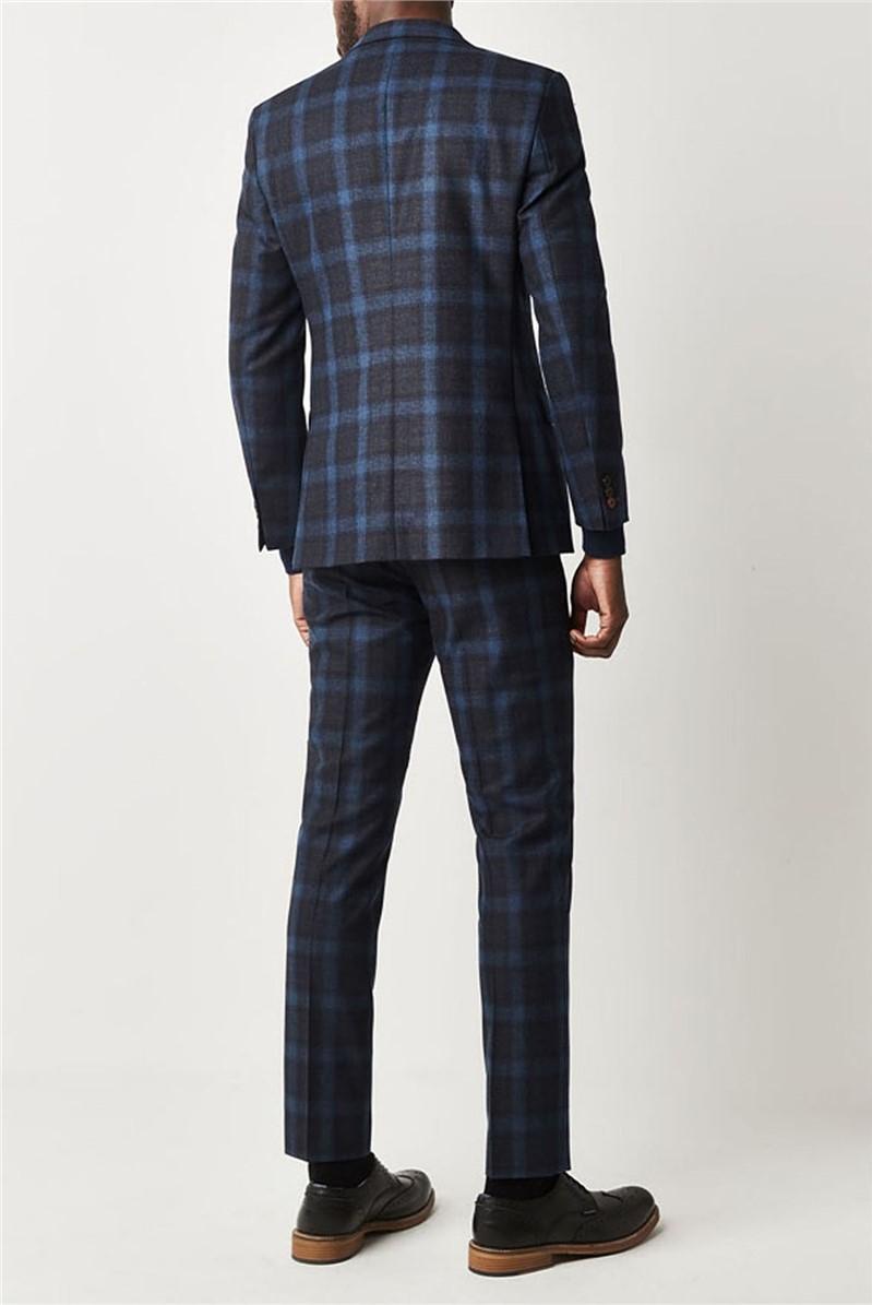 Teal Tartan Check Suit