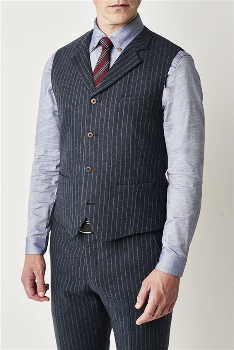 Blue Stripe Waistcoat