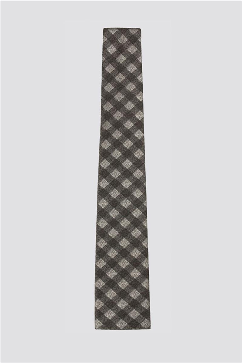 Grey Gingham Tie