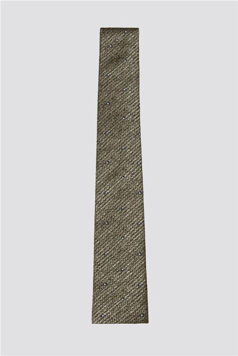 Green Spot Melange Tie