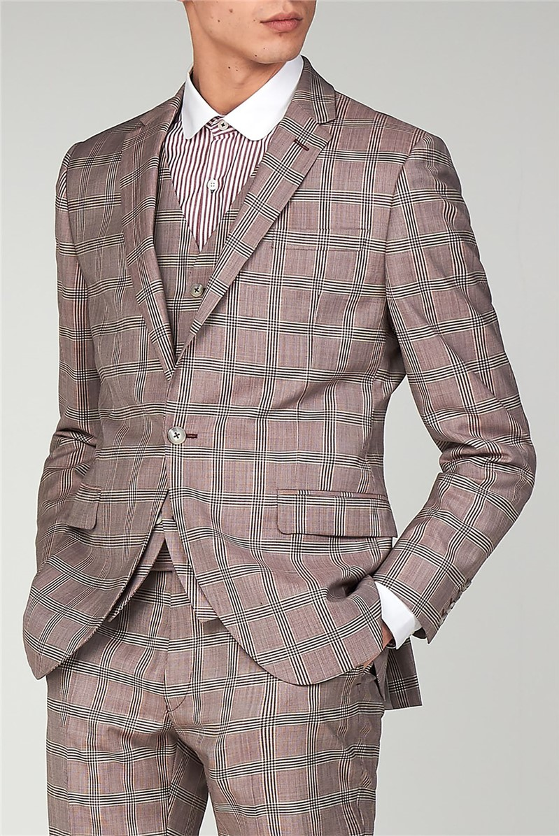 Gibson London PINK CHECK JACKET