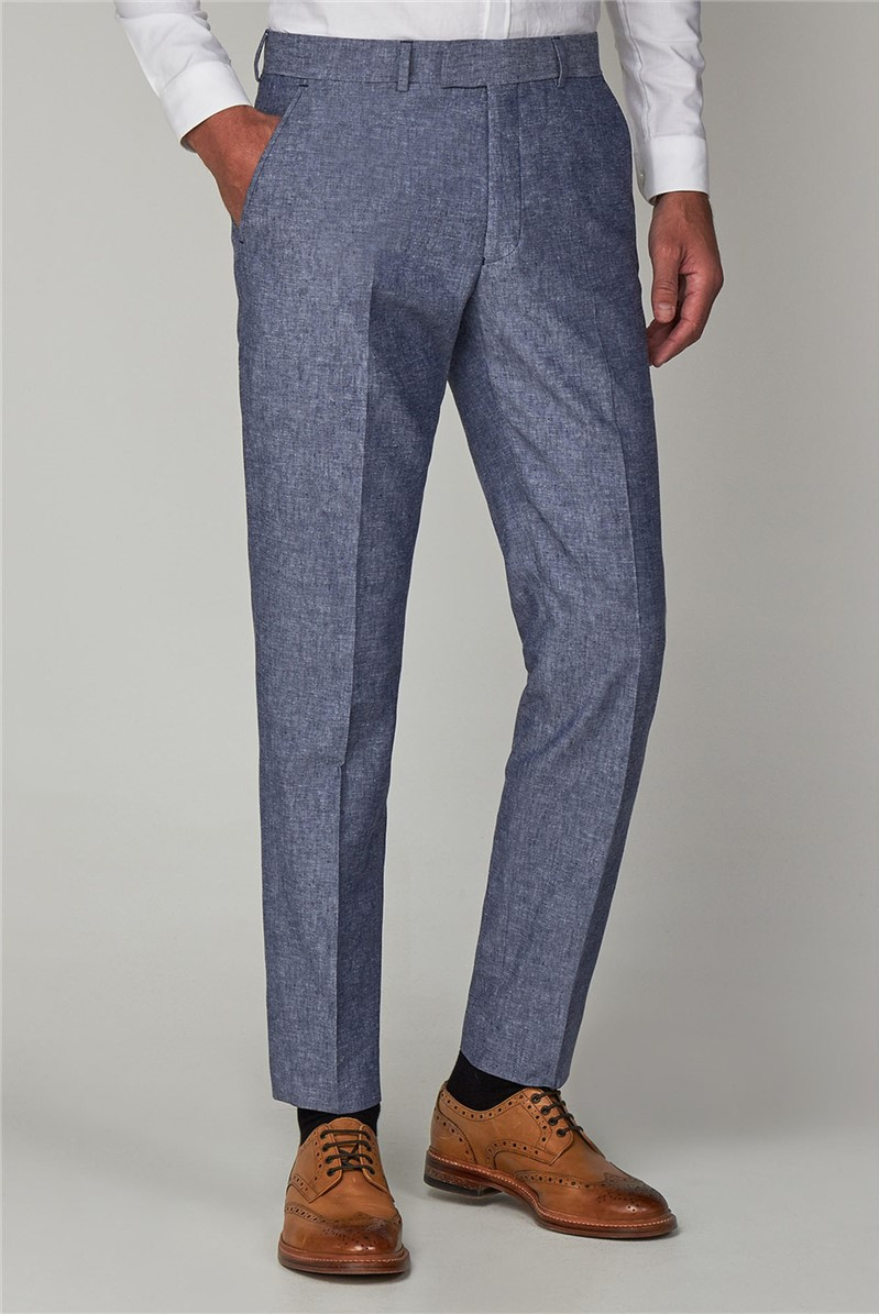 Dark Blue Linen Trousers
