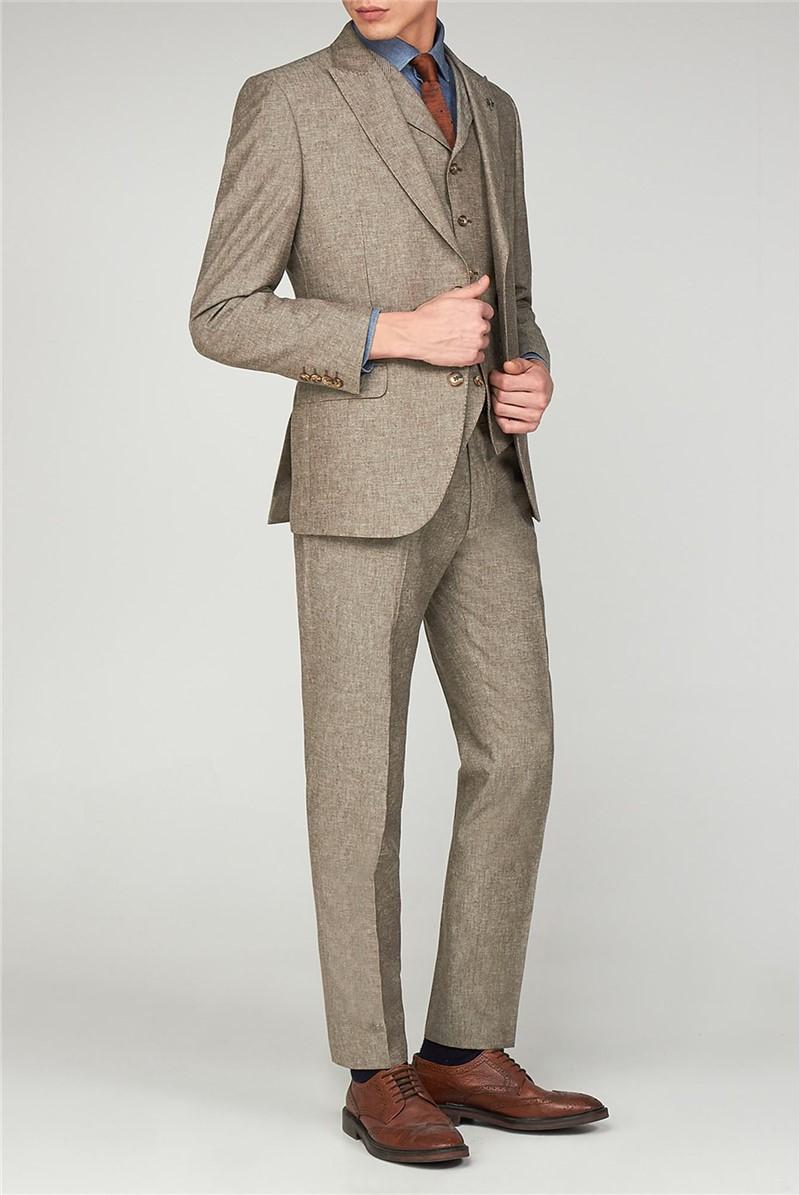 Stone Linen Suit