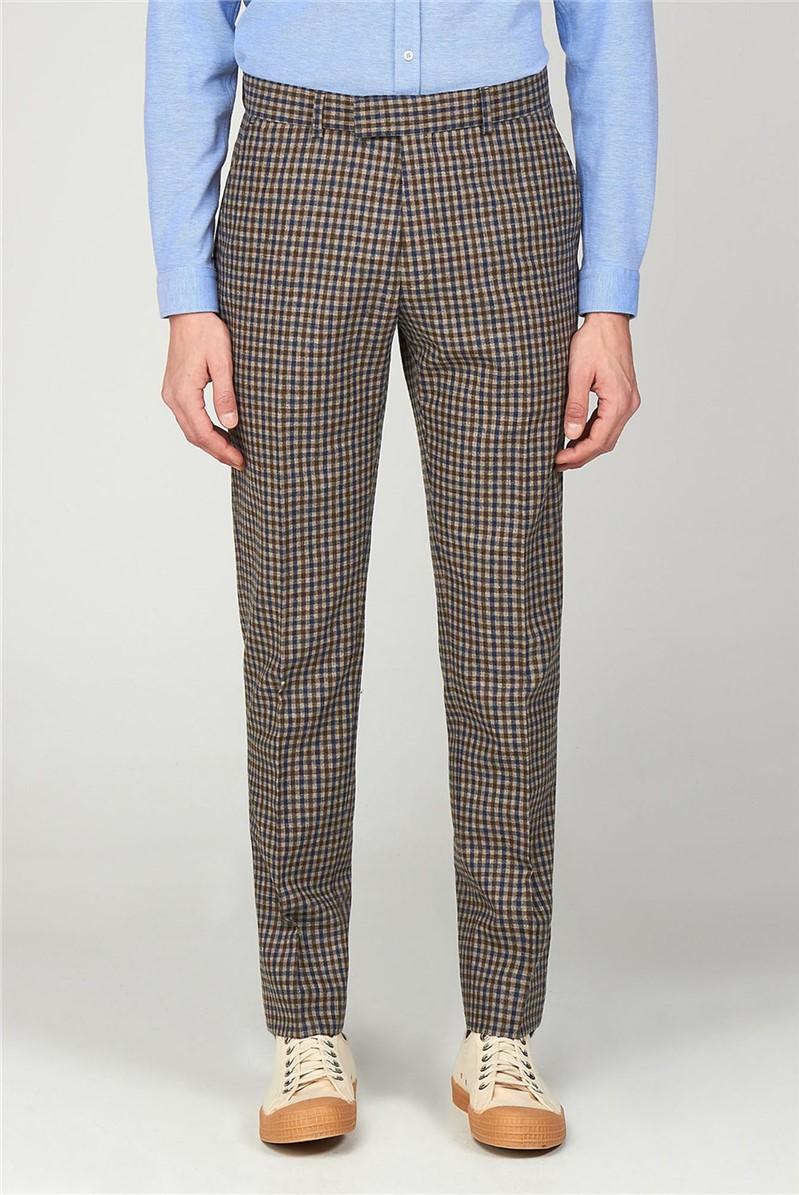 Gibson London The Regent St. Men''s Gingham Slim Fit Trousers