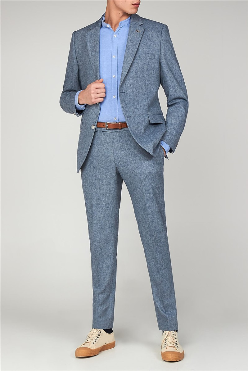 The Bayswater Blue Tweed Men's Towergate Suit