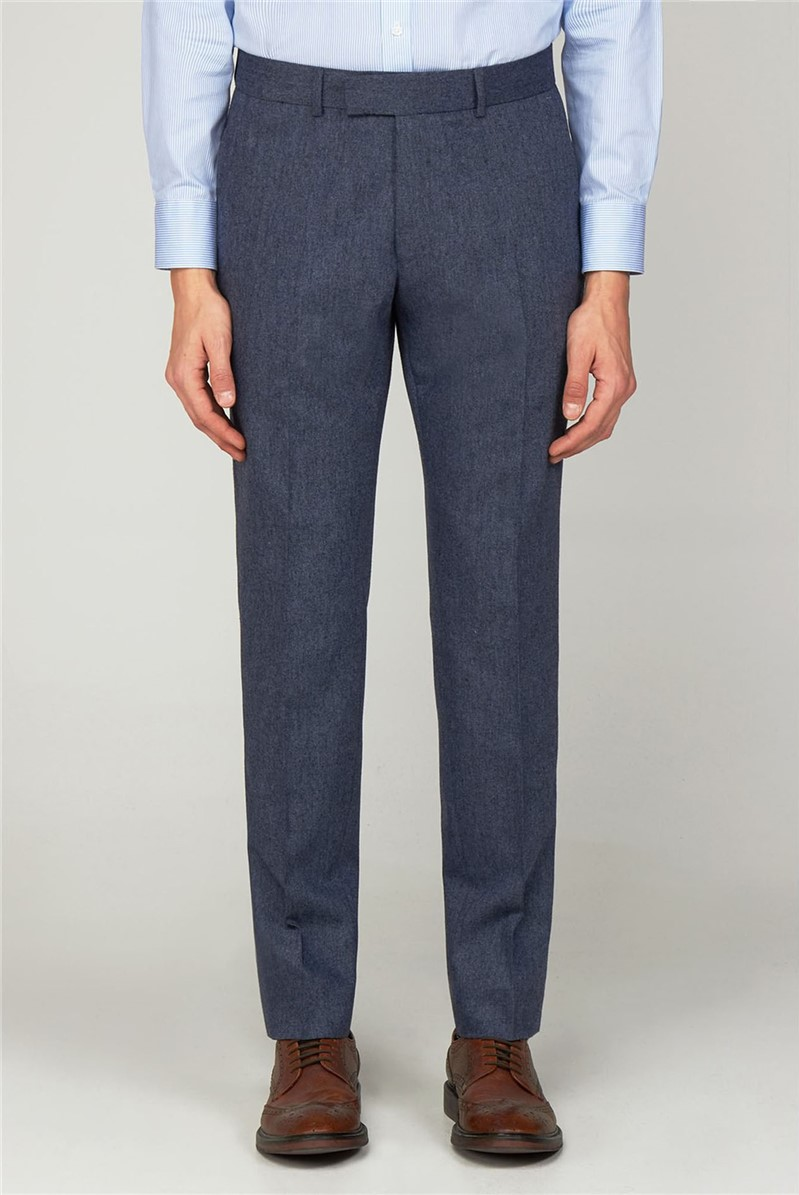 The Bayswater Navy Tweed Men''s Slim Fit Trousers