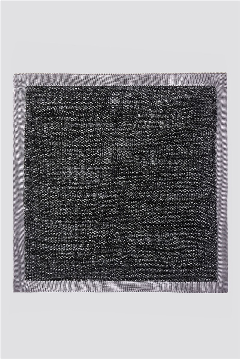 Charcoal Knitted Pocket Square