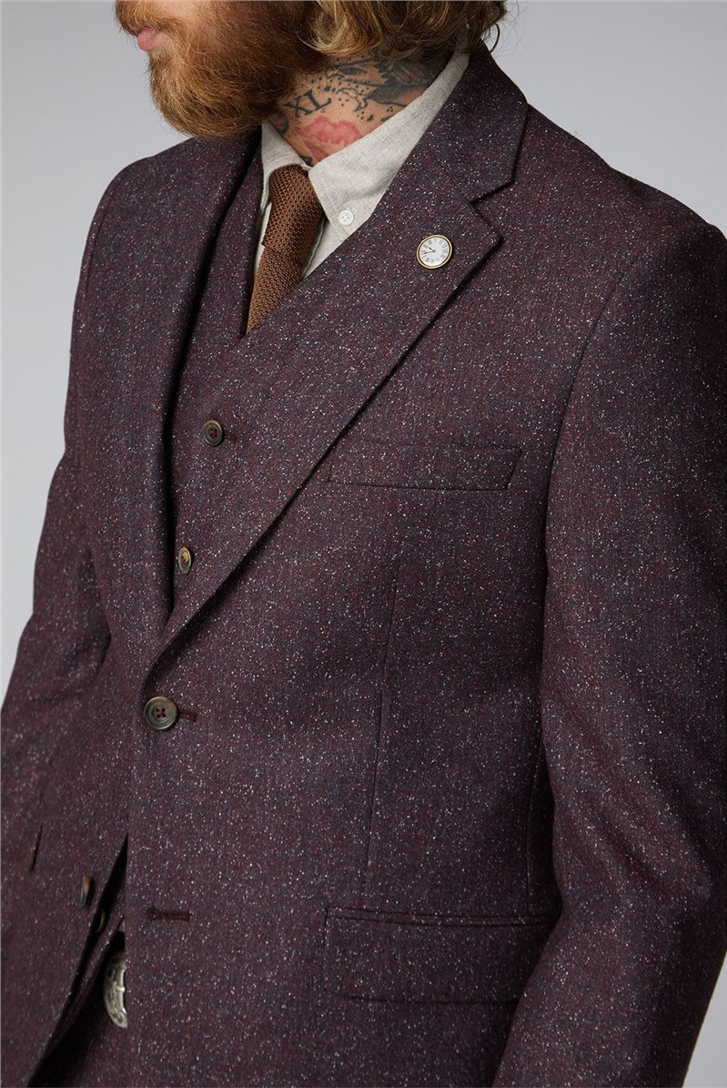 Hayling Berry Speckled Waistcoat