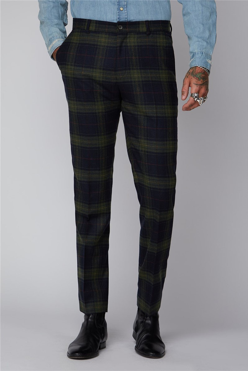Green Black and Red Tartan Trousers
