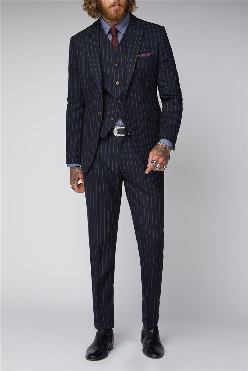 Navy Chalk Stripe Suit