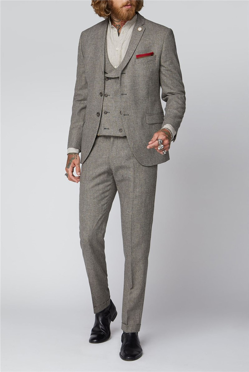 Slate Puppytooth 3 Piece Suit