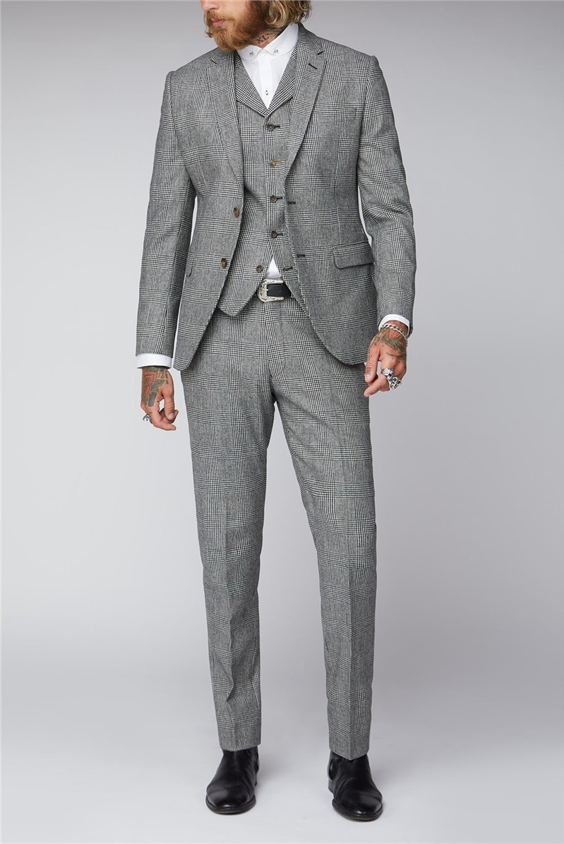 Black & White Check Tweed Suit