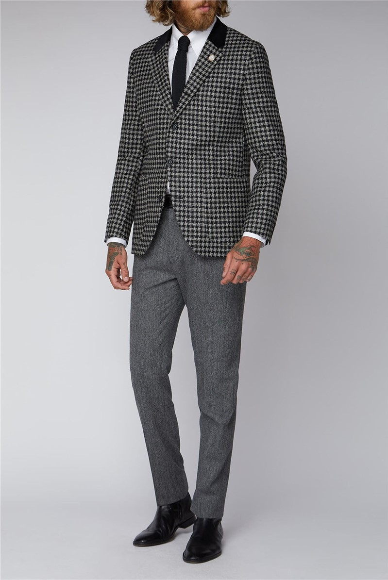 Black and White Geo Check Jacket