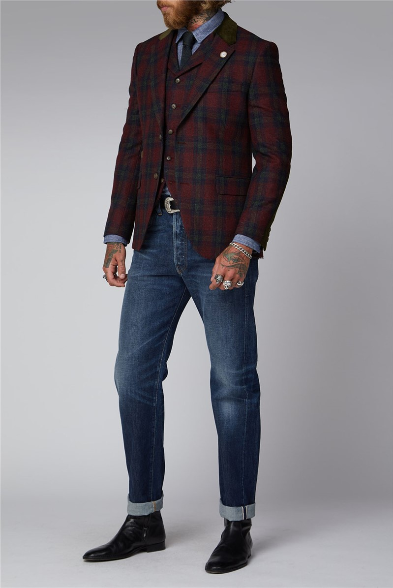Red And Green Tartan Jacket